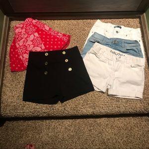 Girls shorty shorts!